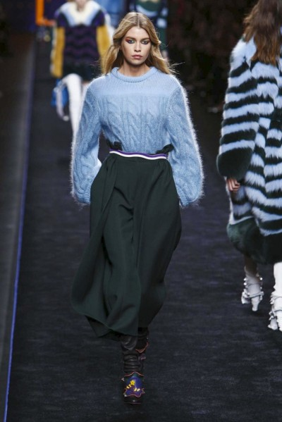 Fendi Fashion Show, Ready to Wear Collection Fall Winter 2016 in Milan